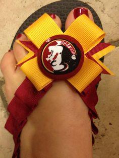 Cute Seminole Flip Flops