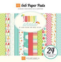 Echo Park: Sunny Days Ahead  SDA82023_6x6_PaperPad_Cover