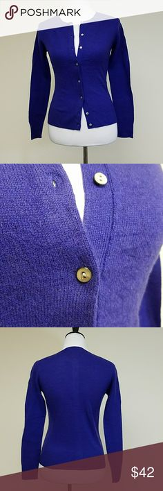 Cashmere Cardigan Gabriella Rossi Purple X small Gabriella Rossi Sweaters Cardigans