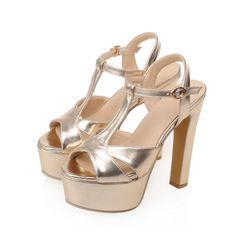 Ladies Summer Block High Heel Party Open Toe Ankle T Strap Sandals Shoes NLX073…