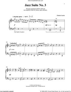Austin - Jazz Suite No. 3 sheet music for piano solo (elementary) Virtual Sheet Music, Jazz Sheet Music, Song Sheet, Sheet Music Pdf, Digital Sheet Music, Piano Music Notes, Sheet Music Notes, Austin Music, Complete Music