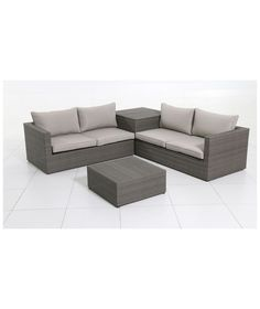 Buy Rattan 4 Seater Garden Corner Sofa and Table Set at Argos.co.uk - Your Online Shop for Garden table and chair sets.