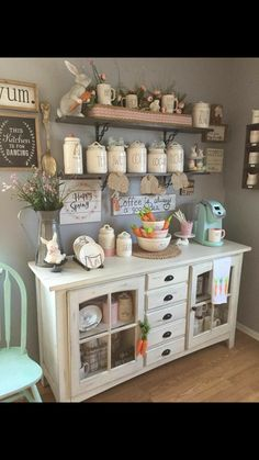 Really Cute Kitchen Nook Farmhouse Decor! Really Cute Kitchen Nook Farmhouse Decor! Coffee Nook, Coffee Bar Home, Home Coffee Stations, Coffee Bar Design, Kitchen Coffee Bars, Coffee Kitchen Decor, Coffe Corner, Spring Kitchen Decor, Coffee Maker