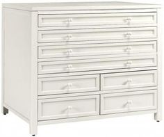 Martha Stewart Living™ Craft Space Eight-Drawer Flat-File Cabinet - Best Cabinet for Craft Supplies! You do have to build it yourself but it doesn't take all that much time. It has so much room and looks so beautiful in my craft room!