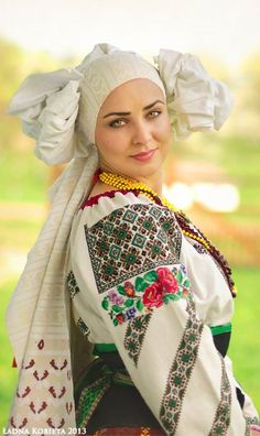 Photo by Anna Senik, http://www.ladna-kobieta.co...Beautiful Ukrainian outfit ,  Ukraine, from Iryna