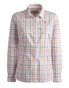 Joules Womens Semi Fitted Shirt, Creme Check.                     A must-have fit for any occasion. Semi-fitted and in lightly brushed cotton, this shirt will sit elegantly over jeans and skirts and underneath jackets and jumpers. A versatile style that will go perfectly from work to the weekend.