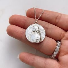 #joanofarc #catholic #saint #sterlingsilverjewelry #finejewelry Saint Joan Of Arc, Jewelry Box, Fine Jewelry, Catholic Jewelry, Catholic Saints, Sterling Silver Necklaces, Handmade, Jewellery Box, Sterling Necklaces