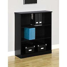 Altra Chadwick Collection 3Shelf Bookcase Nightingale Black