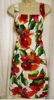 Ronni Nicole 8 Multi-Color Floral Sleeveless Sheath Sundress