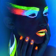 neon makeup, for neon indian concert?