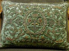 Google Image Result for http://www.oldeworldpillows.com/Pillowpages/page-one/18th_c_green_velvet_metallic_stumpwork_pillow.JPG