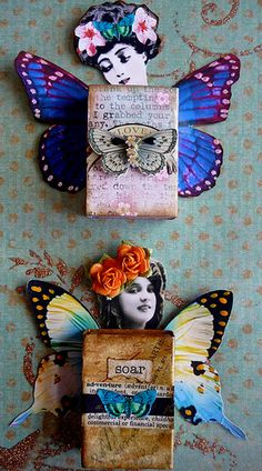 Matchbook Art by Mary Jane Chadbourne Source by Summertrends.club Hint:Use navigation buttons … Matchbox Crafts, Matchbox Art, Paper Dolls, Art Dolls, Paper Art, Paper Crafts, Little Presents, Altered Art, Altered Tins