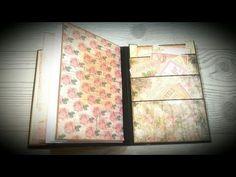 Tutorial *4 Homemade Travelers Notebooks ( Tsunami Rose printables ) - YouTube