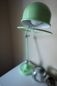 Mint desk lamp from PBTeen