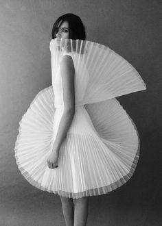 David Laport tulle dress