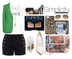 """""""Simply Love."""" by eclectic-chic ❤ liked on Polyvore featuring Joseph, Chloé, Shoe Republic LA, Ted Baker, Ray-Ban, Kate Spade and NARS Cosmetics"""