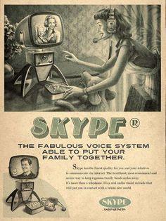 "Skype ""vintage"" poster"