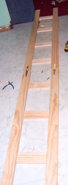 Make your own Ladder Shelves.