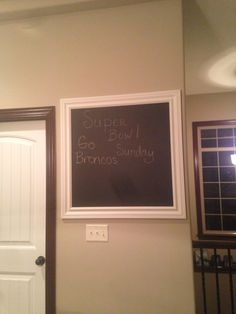 Our version of the chalkboard in the kitchen.
