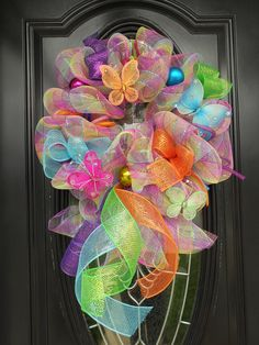 Spring Deco Mesh Wreath