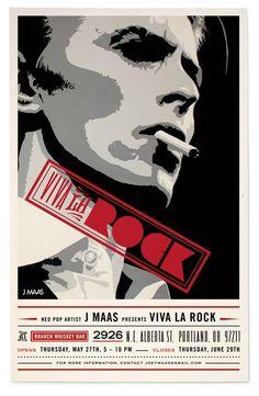 VIVA LA ROCK David Bowie poster