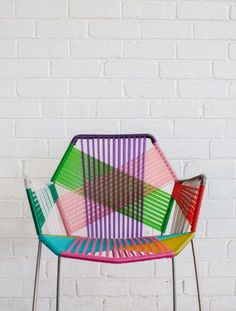 Diy knitted chair