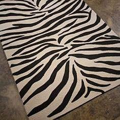 Hand-Hooked Outdoor Animal Print Rug (2' x 3')