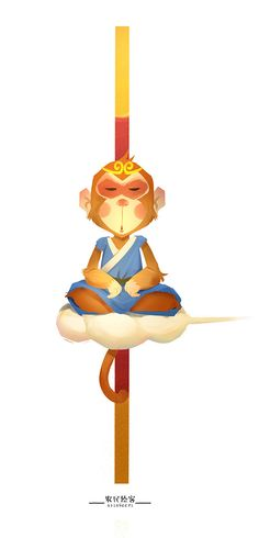 Đại Thánh~ Monkey See Monkey Do, Monkey King, Monkey Illustration, Character Illustration, Rey Mono, Chinese Patterns, Animal Sketches, Illustrations And Posters, Journey To The West