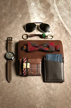 A selection of preppy style accessories for the sharply dressed man. #preppy #fashion #menswear