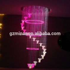 2m Length 150w Fiber Optic Crystal Eagle Shape Chandelier Lamp ...