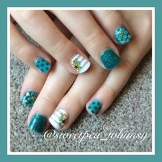 Nailpolis Museum of Nail Art | A Feel for Teal - Kids Nails by Instagram user: @sweetpea_whimsy