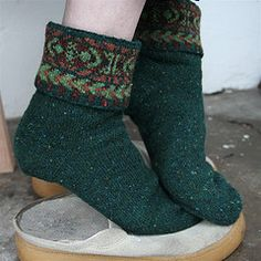Shetland Socks by Nancy Bush from Folk Socks: The History and Techniques of Handknitted Footwear (1994)