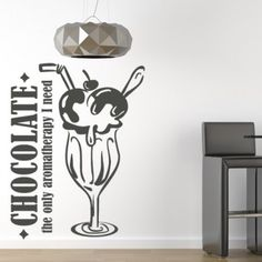 Chocolate The Only Aromatherapty I Need Quote Wall Stickers Art Decal - Quotes & Slogans - Kitchen - Home & Living Kitchen Wall Stickers, Kitchen Wall Art, Kitchen Decor, Kitchen Layouts With Island, Shopping Quotes, Wall Quotes, Rustic Kitchen, Interior Design Kitchen, Home And Living