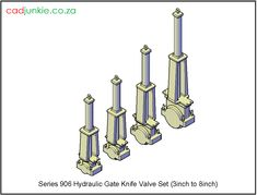 Valves: Gate Valve: Hydraulic Knife Series 906 Set Inch to 8 Inch) Autocad, All Block, Gate Valve, Cad Blocks, Data Sheets, Plumbing Fixtures, Type 4, Names, The Unit