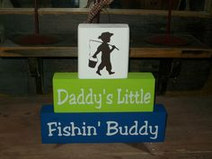 New Boys Daddy's Little Fishing Buddy Wood Sign by BusyMamasPlace, $23.99
