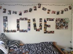 Love photo collage for dorm