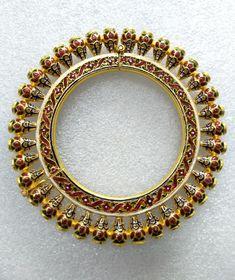 CULETS JEWELRY CREATEUR Kundan and Meena Karras in 916 hallmark Gold