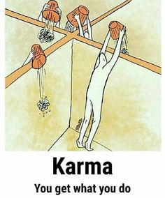 Karma is a conscious decision. They are good and bad Karma. Make the good choice always. Keep it positive! Citations Karma, Karma Frases, Reality Of Life, Reality Quotes, Pictures With Deep Meaning, Meaningful Pictures, Satirical Illustrations, Deep Art, Social Art