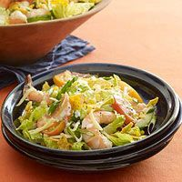 This sounds wonderful! Use low cal ranch dressing to cut down calories. The crunch from the chip is a perfect add on. Tex-Mex Shrimp-and-Corn Salad