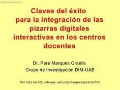 Pizarras Interactivas, por Peremarques by CONCHITACHAVES, via Slideshare