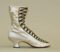 Boots Date: 1880 Culture: French Medium: silk