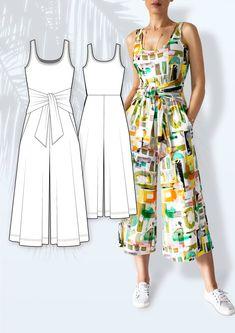 Sewing Patterns Free, Clothing Patterns, Dress Patterns, Sewing Pants, Sewing Clothes, Jumpsuit Pattern, Pants Pattern, Diy Kleidung Upcycling, Minimalist Fashion Women