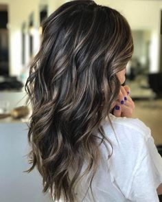 ashy dark brown hair with highlights - Google Search