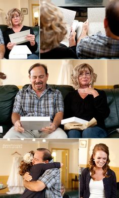 Write letters to your parents and give to them before the wedding. Yes yes yes!! I must remember to do this!