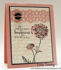 Add Ink and Stamp: Field Flowers, a new stamp set