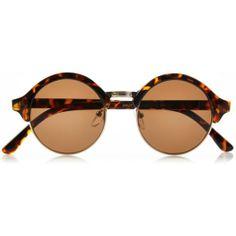 Brown tortoise shell round sunglasses #riverisland