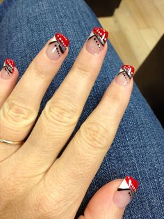 Black Red And White Nails Perfect For The First Day Of School Love My Job
