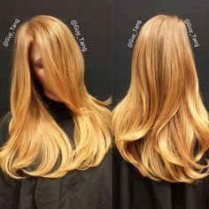 Golden, copper blonde isn't for everyone but this is beautiful. #BlondeHairstylesGolden