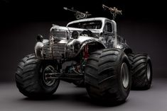 The Mad Max cars look just as fantastic before the dirt.