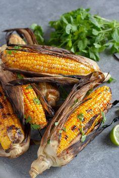 Spicy Harissa Grilled Corn // vegan, vegetarian, gluten-free